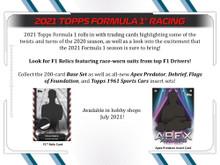 2021 Topps Formula 1 Racing Hobby Box