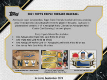 2021 Topps Triple Threads Baseball Hobby Box