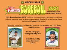 2021 Topps Heritage Minor League Baseball Hobby 12 Box Case