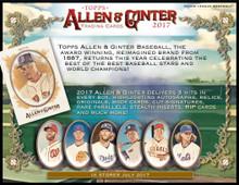 2017 Topps Allen & Ginter Baseball Hobby 12 Box Case