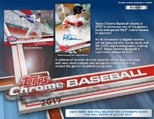 2017 Topps Chrome Baseball Hobby 12 Box Case