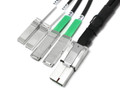 CXP to 2 QSFP+ and 2 SFP+ Breakout Cable