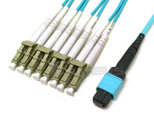MTP/MPO to 8x LC Breakout OM4 50/125 Plenum Cable
