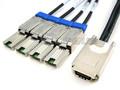 SAS to 4 Mini SAS Breakout Cable
