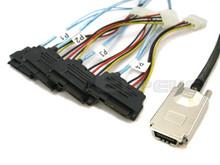 SAS to 4 29-Pin SAS Breakout 2 Meter Cable