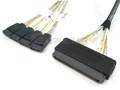32-Pin SAS to 4 SATA 0.5 Meter Cable