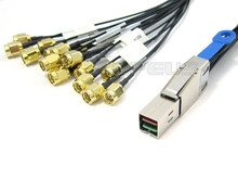 Mini SAS HD to 16 SMA 1 Meter Cable