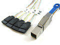 Mini SAS HD to 4 SATA 1 Meter Cable