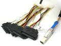 Mini SAS HD to 4 29-Pin SAS 0.5 Meter Cable