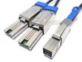 Mini SAS HD to 2 Mini SAS 1 Meter Y Cable