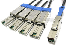 Mini SAS HD to 4 Mini SAS 2 Meter Breakout Cable