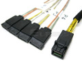 Internal Mini SAS HD to 4 SATA 1 Meter Cable
