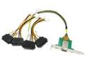 0.5 Meter Mini SAS Female SFF-8088 to (4) SAS SFF-8482, PCI BRACKET