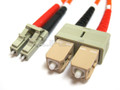 LC to SC Duplex Multimode (LSZH) 62.5/125 Fiber Patch Cable
