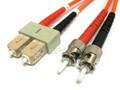 SC to ST Duplex Multimode (LSZH) 62.5/125 Fiber Patch Cable