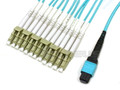 MTP/MPO to 12x LC Breakout OM3 50/125 Plenum Cable