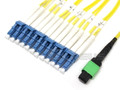 MTP/MPO to 12x LC Breakout Single-mode 50/125 Plenum Cable