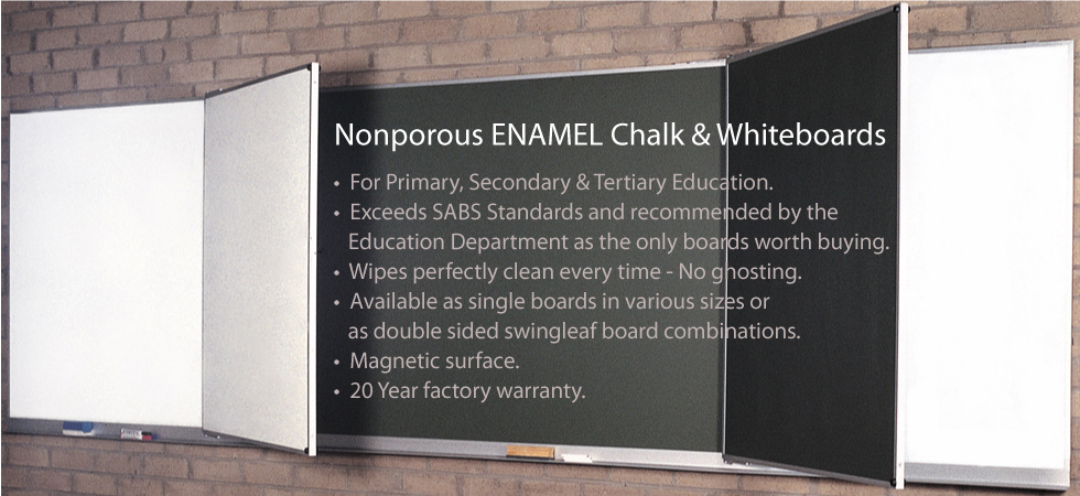 Nonporous ENAMEL Chalk & Whiteboards