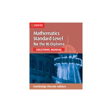 Mathematics for the IB Diploma Standard Level Cambridge Elevate - ISBN 9781107579262