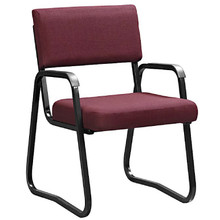 The ECONOMY Mid-Back Arm Chair with Skid Base