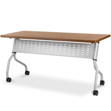 FLIP Training Table with 32mm Folding Top, Lockable Castors and Built-in Modesty Panel.