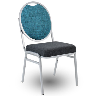 AMY Upholstered Banquet Chair with Round Back and Heavy Duty Frame