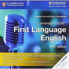 Cambridge IGCSE First Language English Cambridge Elevate Digital Classroom Access Card (1 Year) - ISBN 9781108705721