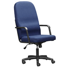 The ECONOMY High-Back Upholstered Arm Chair with Swivel/Tilt Mechanism and Castor Base.