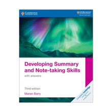 Cambridge Developing Summary and Note-taking Skills with Answers - ISBN 9781108811330