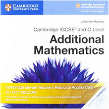 Cambridge IGCSE® and O Level Additional Mathematics Cambridge Elevate Teacher's Resource Access Card - ISBN 9781108456326