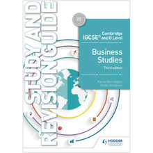 Hodder Cambridge IGCSE and O Level Business Studies Study and Revision Guide (5th Edition) - ISBN 9781510421264