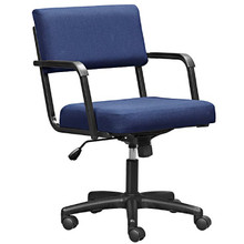 The ECONOMY Mid-Back Arm Chair with Swivel/Tilt Mechanism an Castor Base