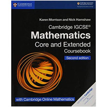 Cambridge IGCSE® Mathematics Coursebook Core and Extended Second Edition with Cambridge Online Mathematics (2 Years) - ISBN 9781108525732
