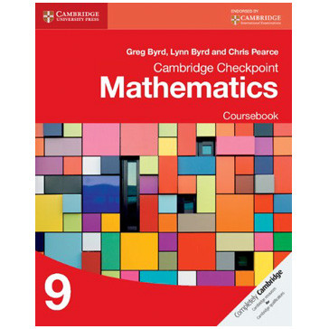 Cambridge Checkpoint Mathematics Coursebook 9 - ISBN 9781107668010