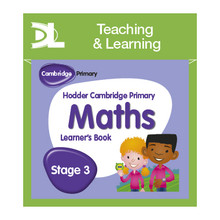 Hodder Cambridge Primary Maths Online Digital Resource Pack 3 Dynamic Learning - ISBN 9781510425989