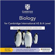 Cambridge International AS & A Level Biology Digital Teacher's Resource Access Card - ISBN 9781108797795