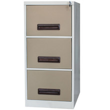 3 Drawer Steel Filing Cabinet With Hanging Rail & Central Locking