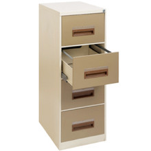 4 Drawer Steel Filing Cabinet With Hanging Rail & Central Locking