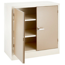Mini 2 Door Steel Stationery Cabinet with 2 Adjustable Shelves (H900mm)