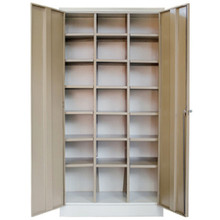 21 Compartment Steel Pigeon Hole Filing Cabinet in Ivory Karoo