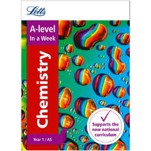 Collins Letts A Level Revision Success - A Level Chemistry Year 1 (and AS) In a Week - ISBN 9780008179090