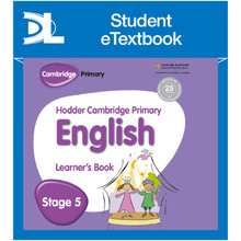Hodder Cambridge Primary English: Learner's Book Stage 5 Student e-Textbook - ISBN 9781398315761