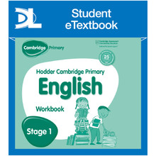 Hodder Cambridge Primary English: Work Book Stage 1 Student e-Textbook - ISBN 9781398314870