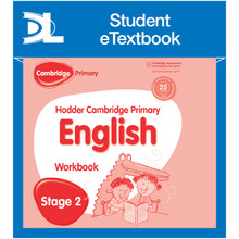 Hodder Cambridge Primary English: Work Book Stage 2 Student e-Textbook - ISBN 9781398314894