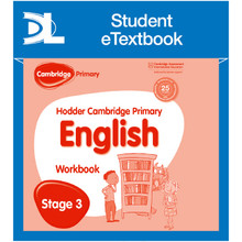 Hodder Cambridge Primary English: Work Book Stage 3 Student e-Textbook - ISBN 9781398315433
