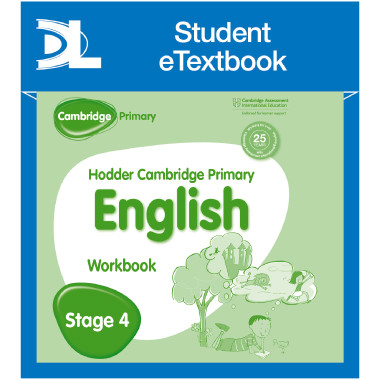 Hodder Cambridge Primary English: Work Book Stage 4 Student e-Textbook - ISBN 9781398315808