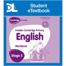 Hodder Cambridge Primary English: Work Book Stage 5 Student e-Textbook - ISBN 9781398315815