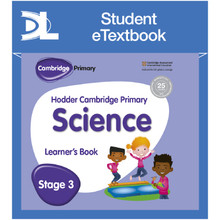 Hodder Cambridge Primary Science Learner's Book 3 Student e-Textbook - ISBN 9781398315976