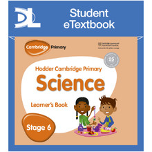 Hodder Cambridge Primary Science Learner's Book 6 Student e-Textbook - ISBN 9781398316003