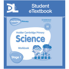 Hodder Cambridge Primary Science Work Book 1 Student e-Textbook - ISBN 9781398316010